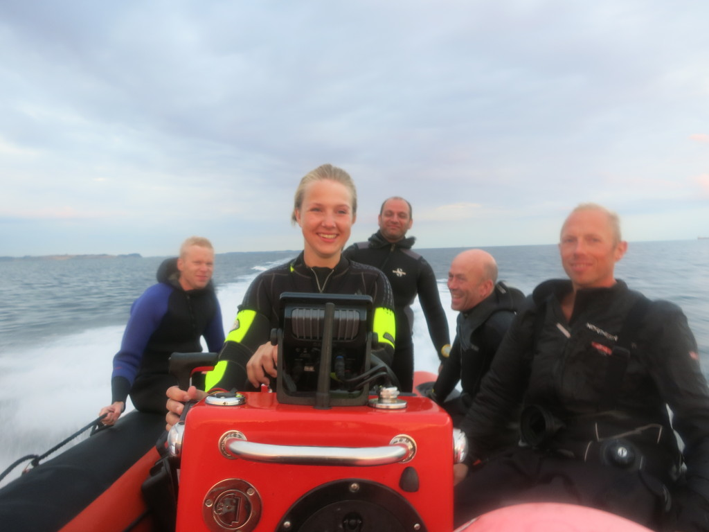 7 BioDykkere bestod speedbådskørekortet